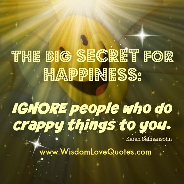 The Big Secret for Happiness