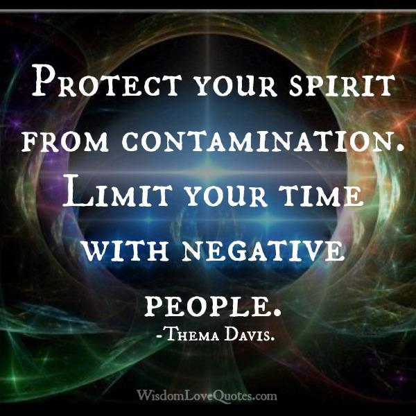 Limit your time with negative people