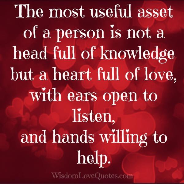 The most useful asset of a person