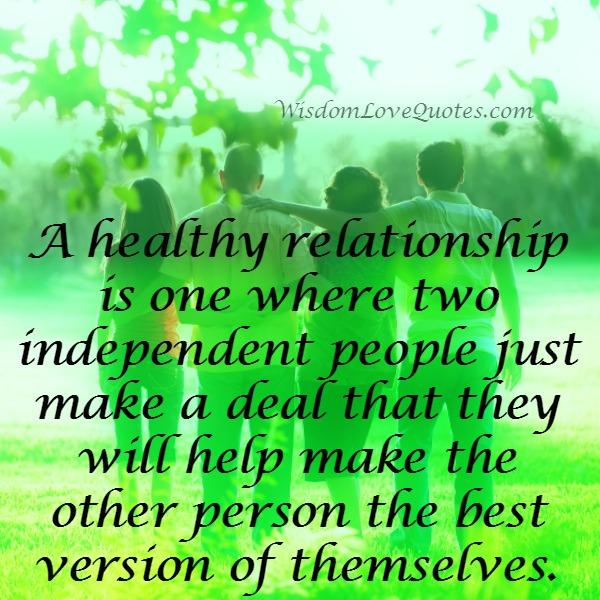 What's a healthy relationship?