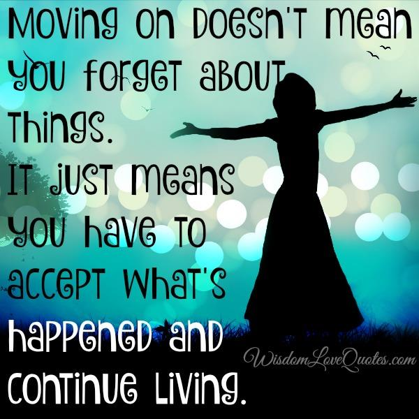 move on meaning relationship to you