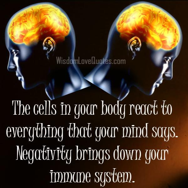 Negativity brings down your immune system