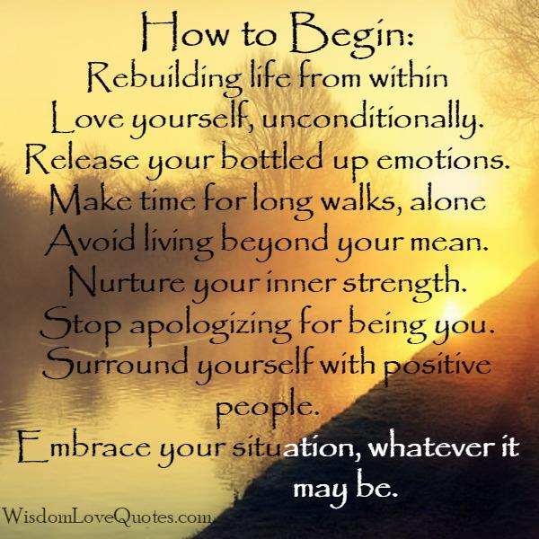 Release your bottled up emotions - Wisdom Love Quotes