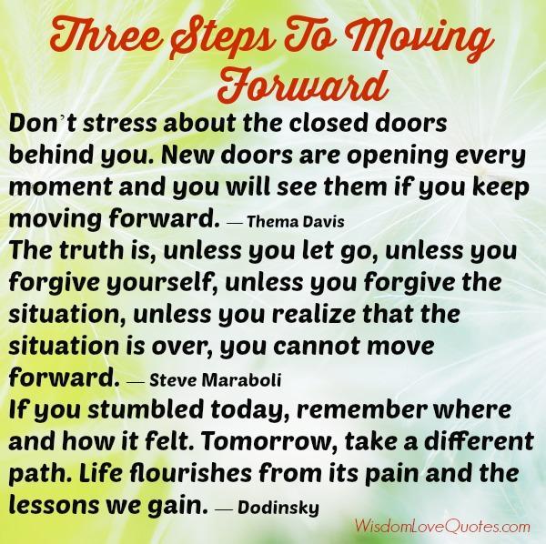 Three Steps to Moving Forward