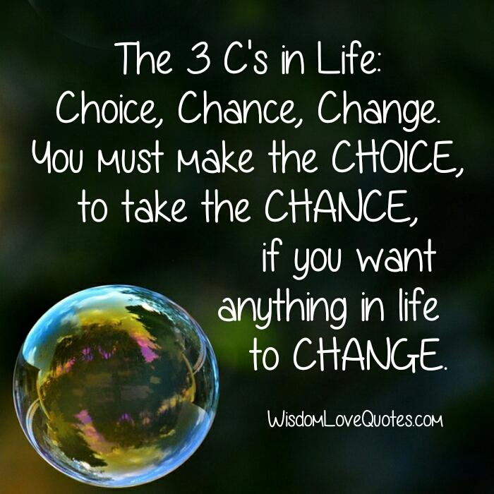 The 3 C's in Life