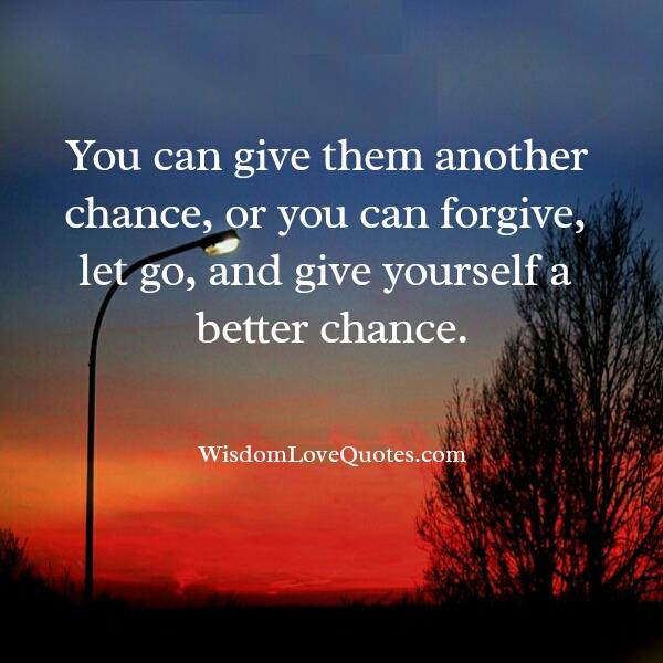 Let go & give yourself a better chance