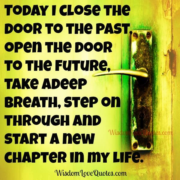 Close the door to the past