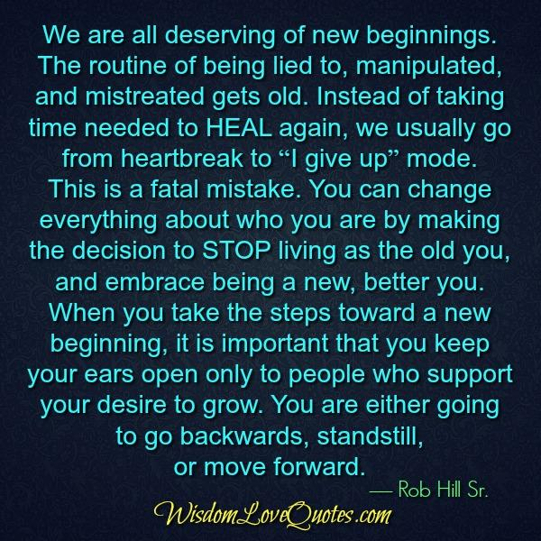 We are all deserving of new beginnings