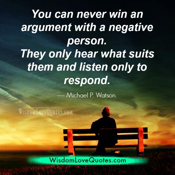 Negative person listen only to respond