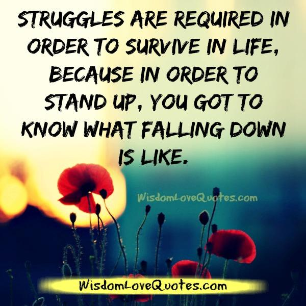 Struggles are required to survive in life