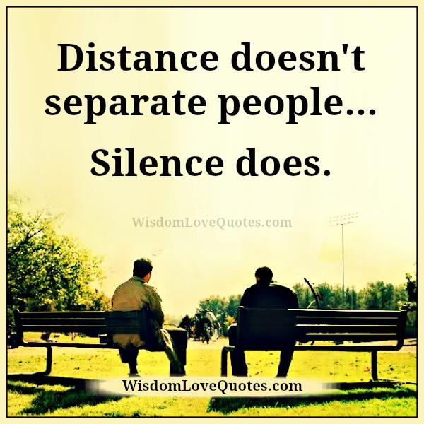 separate people. distance doesn\u0027t separate people a
